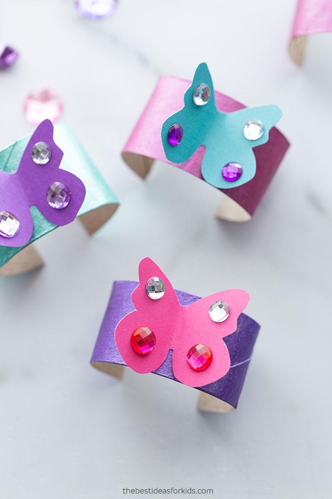 Toilet Paper Roll Bracelets Craft