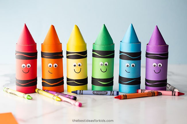 Toilet Paper Roll Crayons Craft for Kids