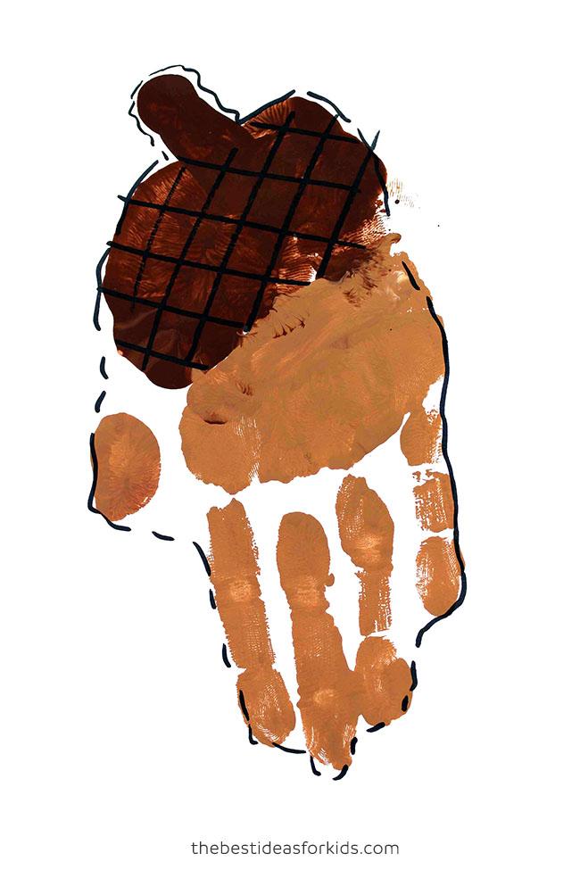 Acorn Handprint Art