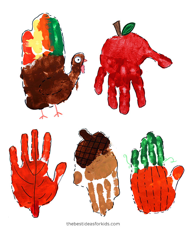 Fall Handprint Art for Kids