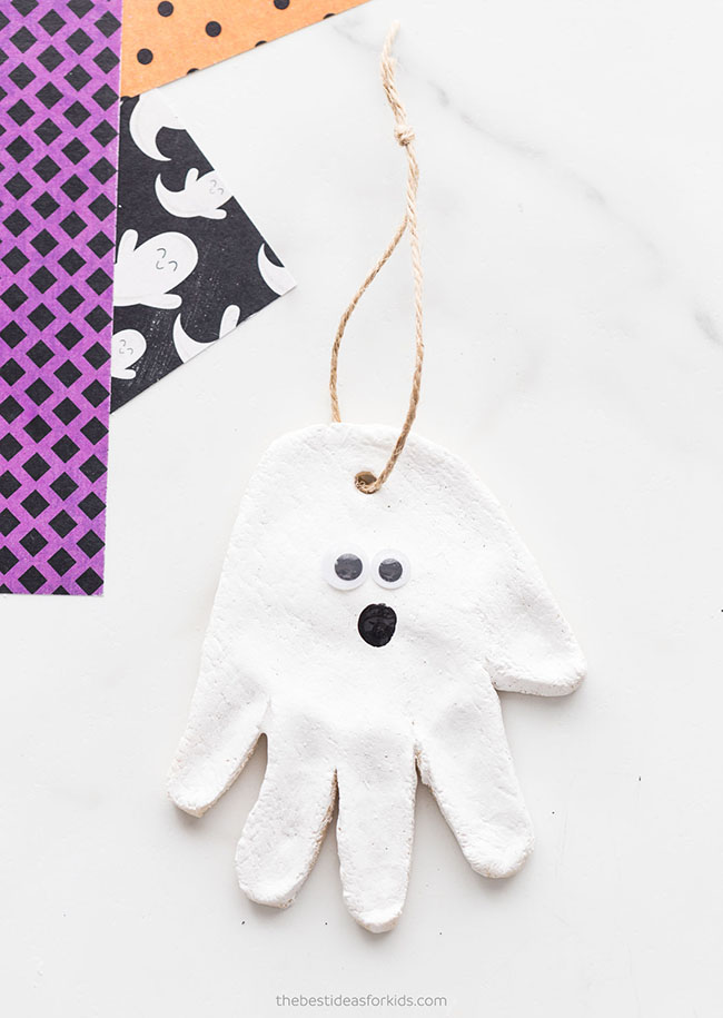 Ghost Salt Dough Craft