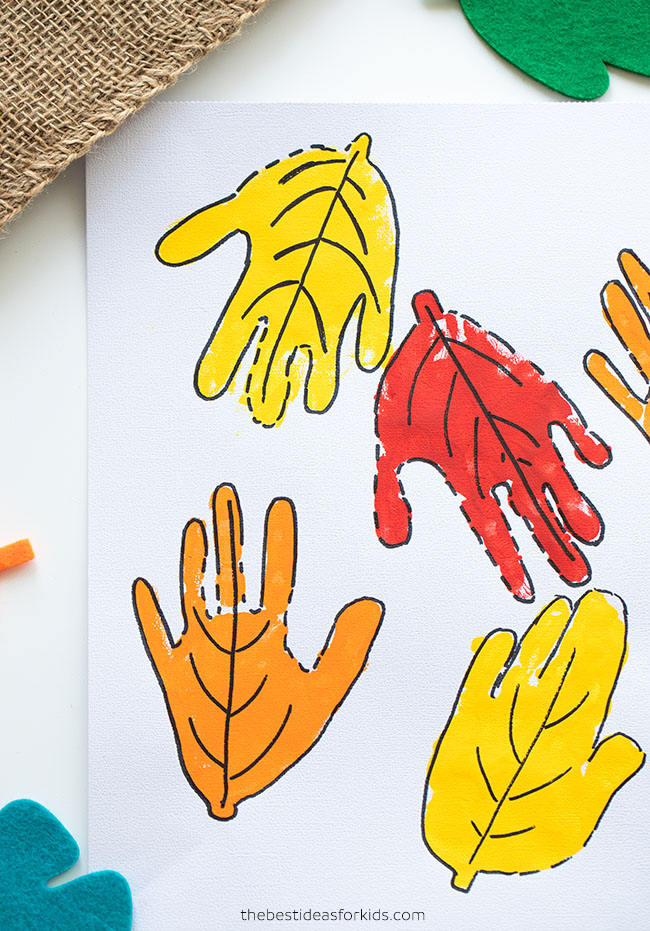 Leaf Handprint Craft