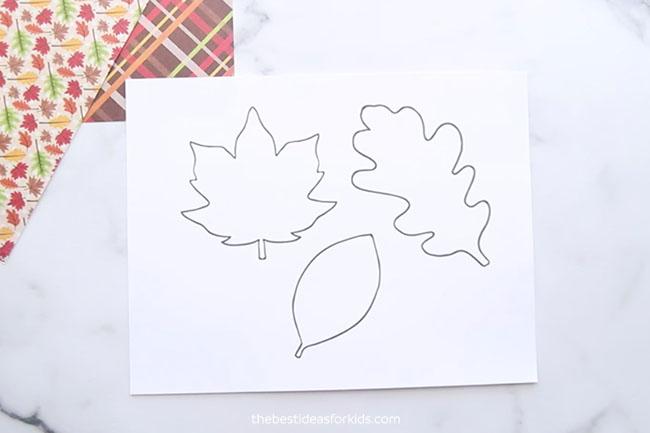 Leaf Templates for Salt Painting