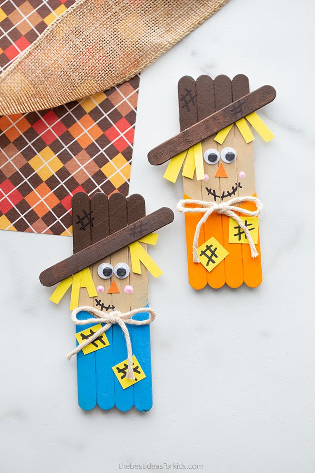 Popsicle Stick Scarecrow Craft
