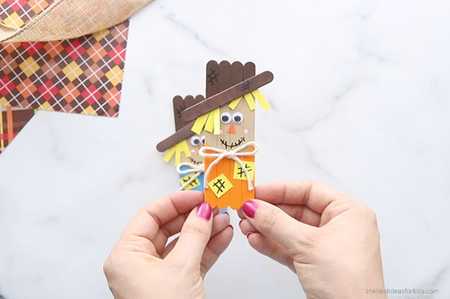 Popsicle Stick Scarecrows