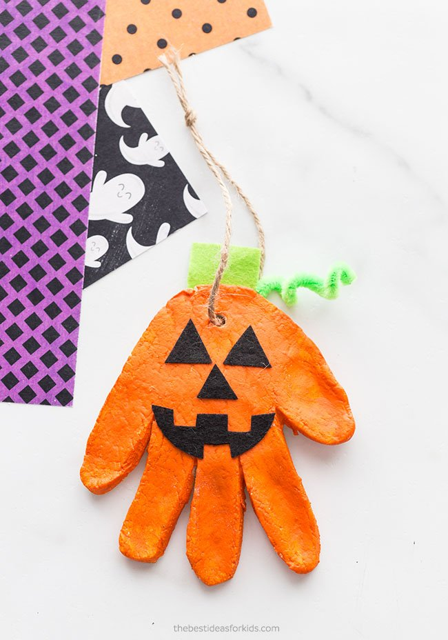 Pumpkin Salt Dough Ornament
