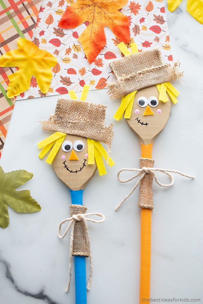 Wooden Spoon Scarecrow Craft