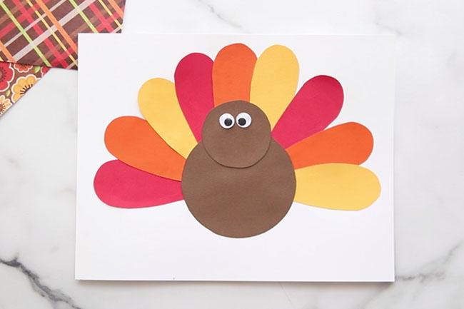 Glue on the Turkey Body