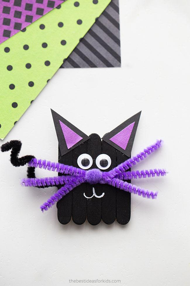 Popsicle Stick Black Cat