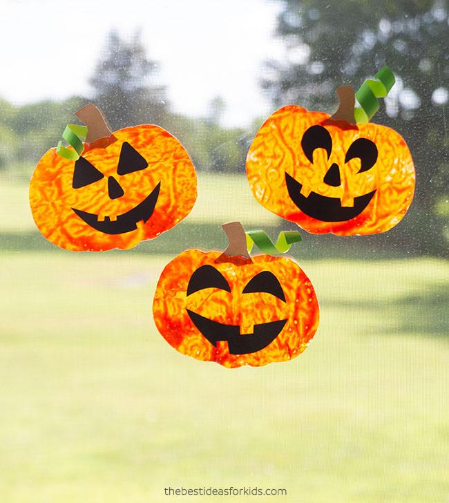 Pumpkin Suncatchers Craft