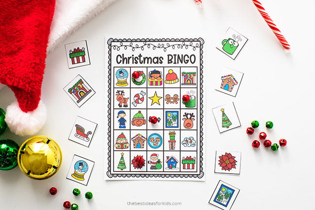 Christmas Bingo Game for Kids