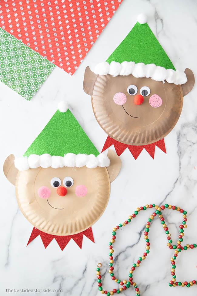 Christmas Paper Plate Elf