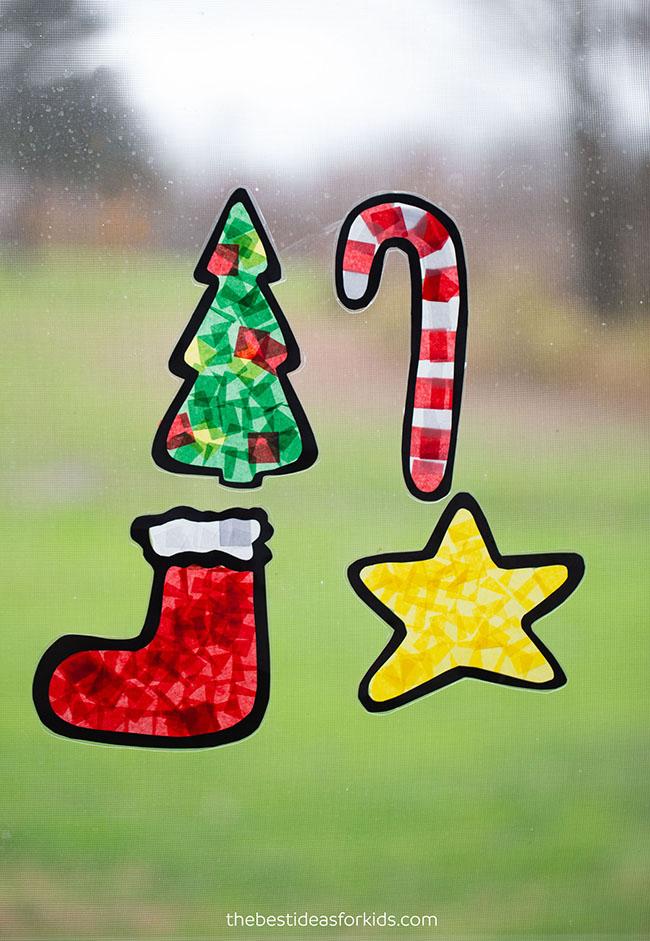 Christmas Suncatchers Craft