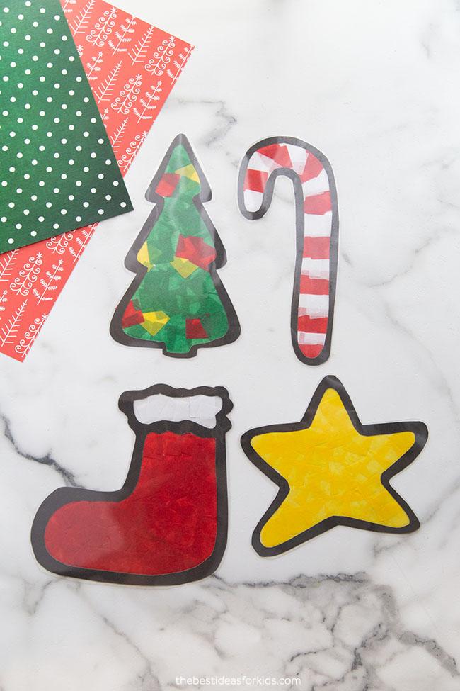 Christmas Suncatchers for Kids Craft