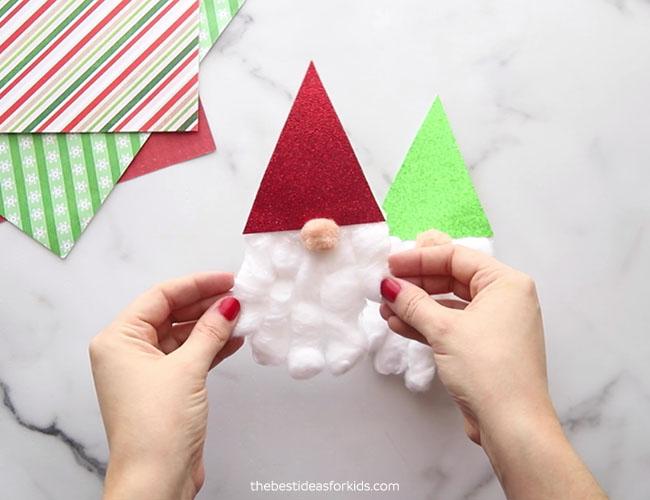 Gnome Handprint Christmas Card