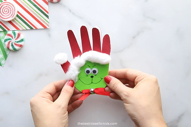 Grinch Handprint Card Craft