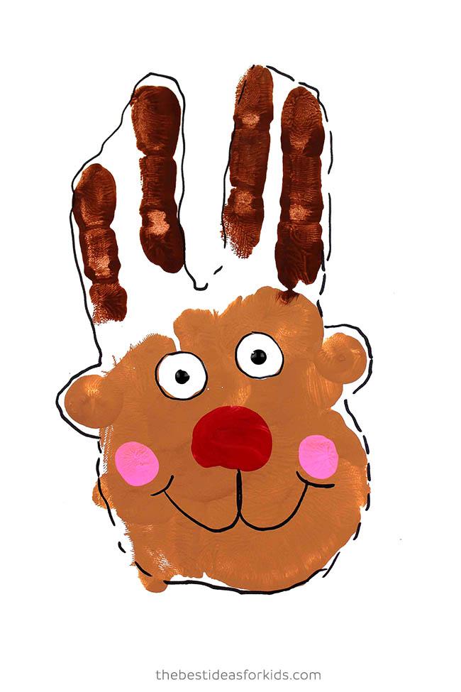 Handprint Reindeer with Paint