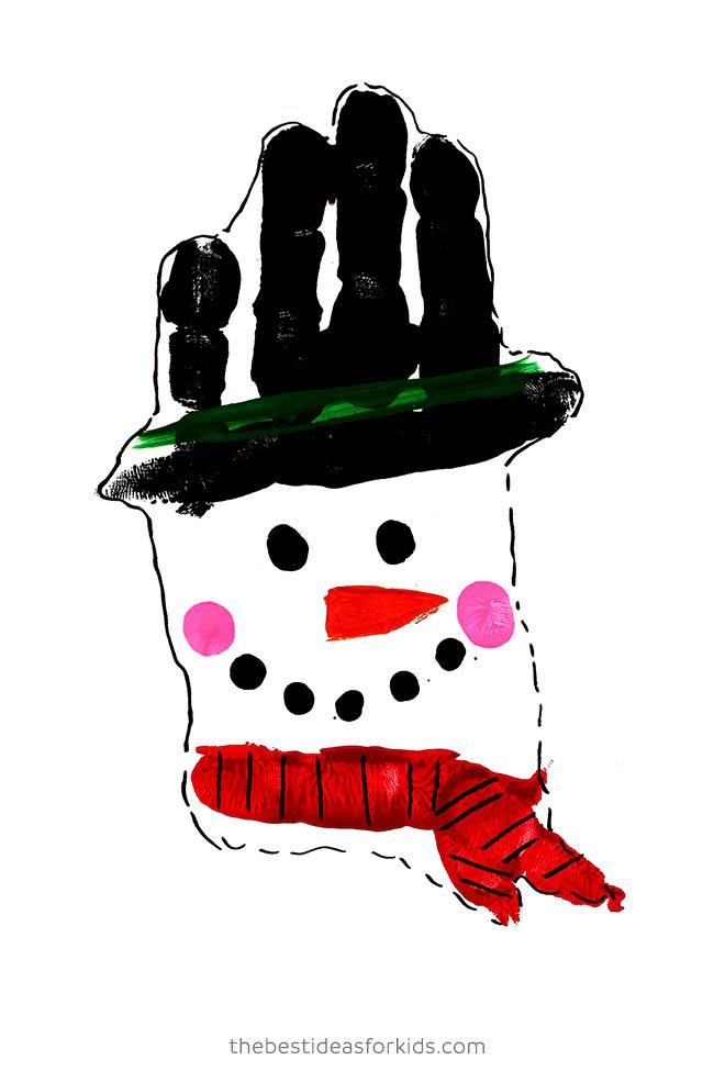 Handprint Snowman