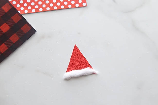 Make Santa Hat for Paper Santa