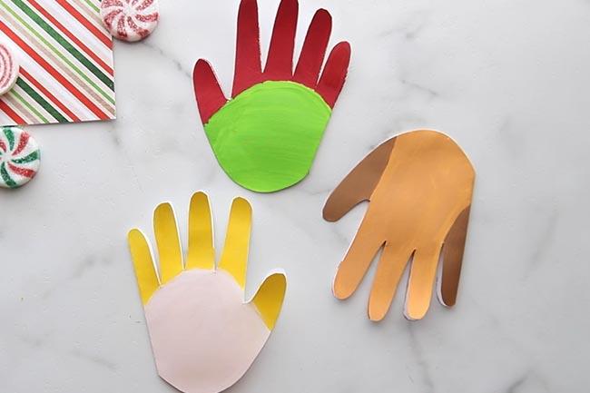 Paint Handprints with Acrylic Paint