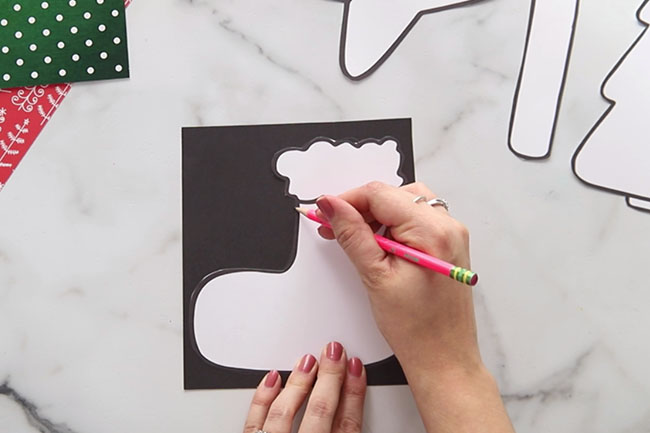 Trace Templates on Black Cardstock