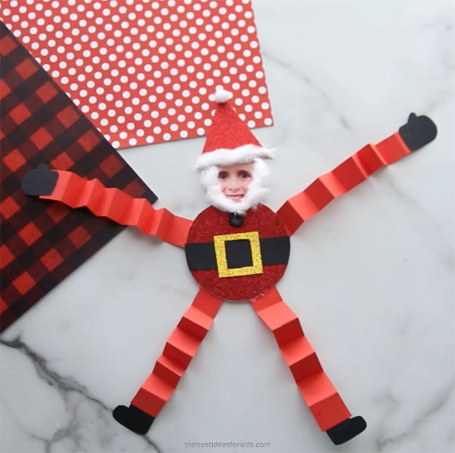 Wiggly Paper Santa Craft