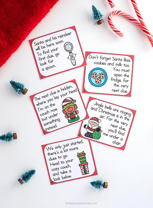 Christmas Scavenger Hunt Free Printable Cards
