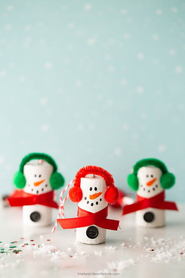 Cork Snowman Craft