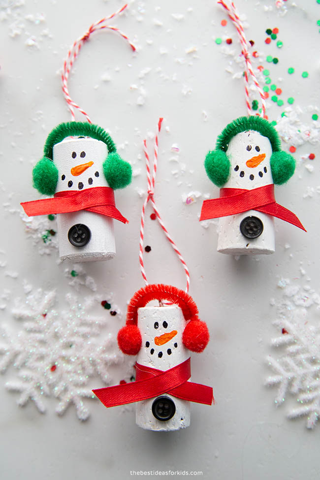 Cork Snowmen Ornament