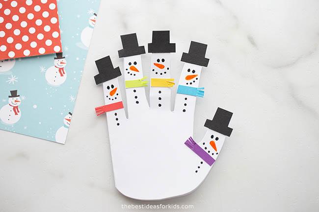 Handprint Snowman Card