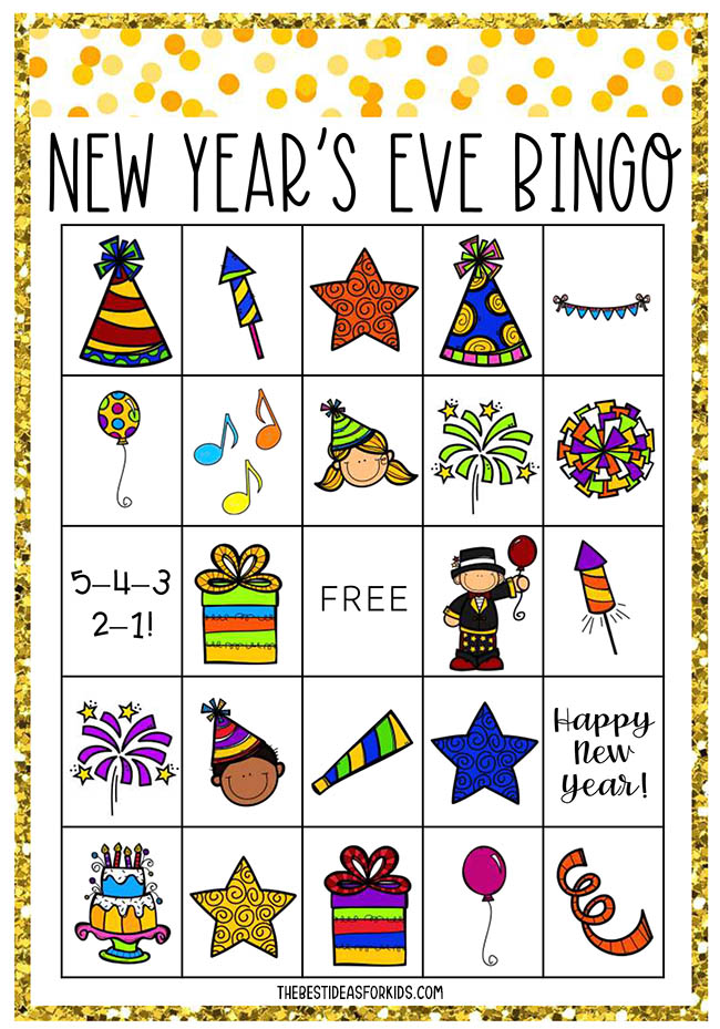 New Year's Eve Bingo Card Printables