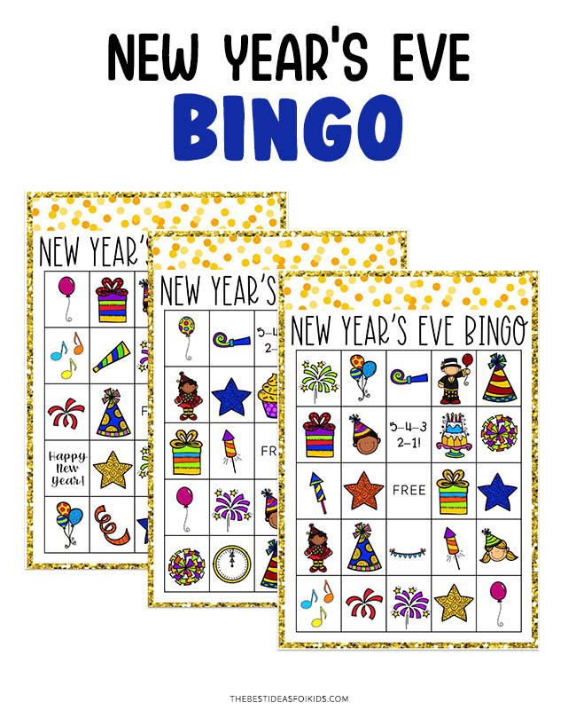 New Year's Eve Printable Bingo Cards
