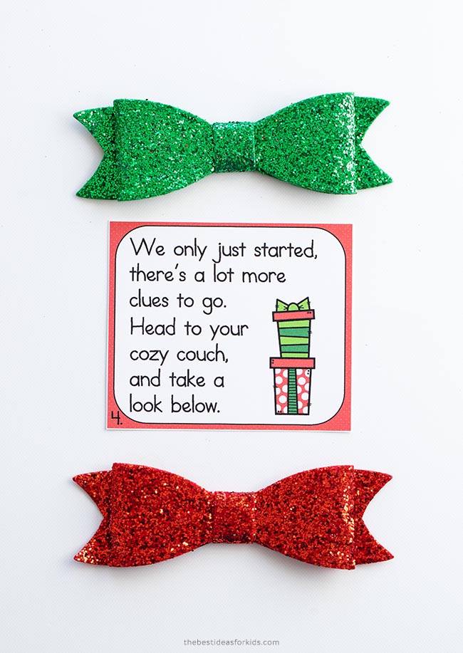 Printable Cards Scavenger Hunt Christmas