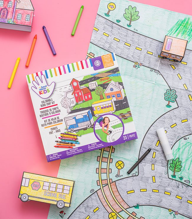 Coloring Road Map Kit for Kids