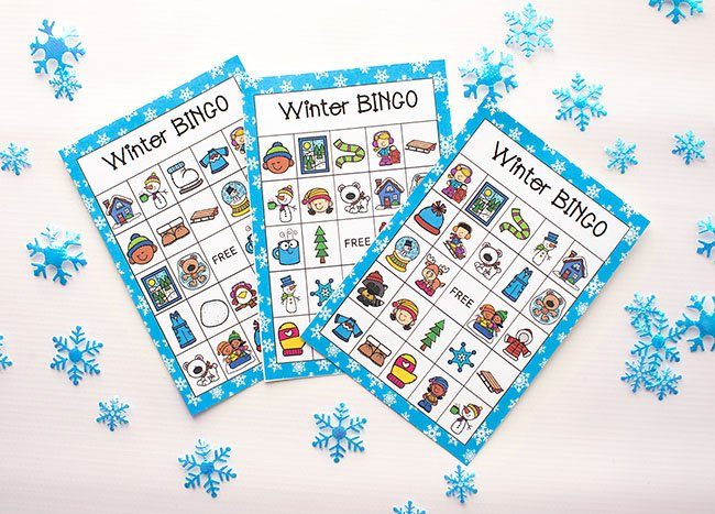 Free Printable Cards for Winter Bingo