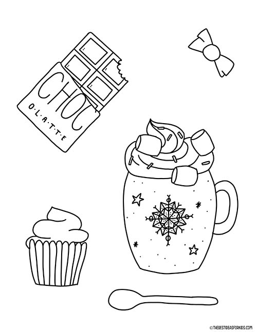 Hot Chocolate Coloring Page
