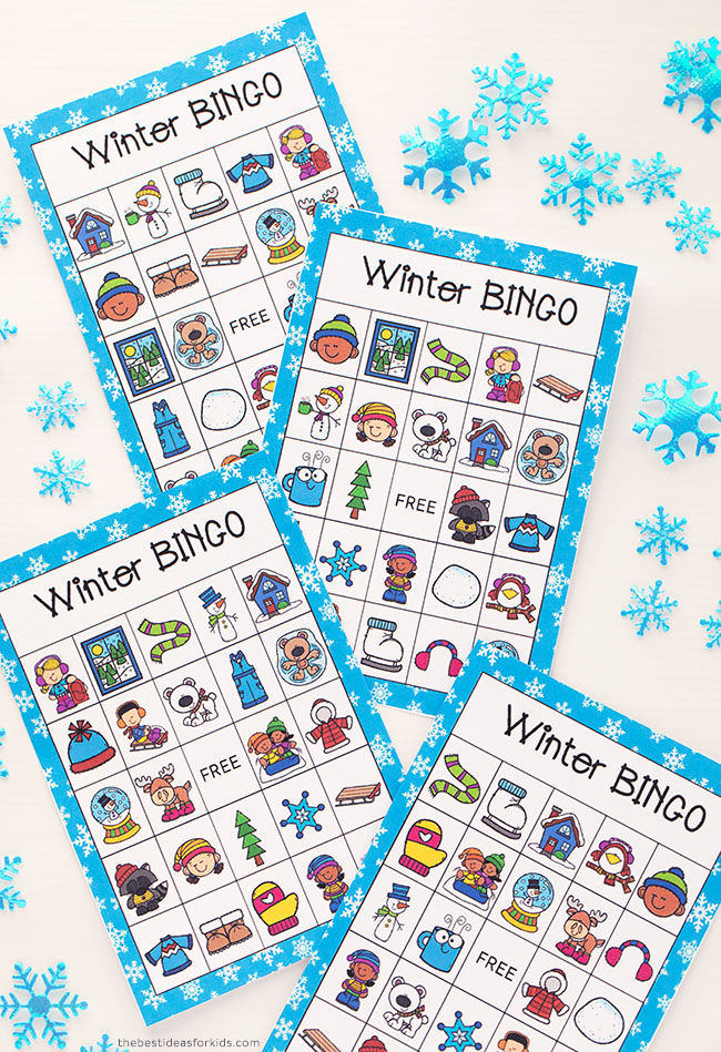 Winter Bingo Free Printable
