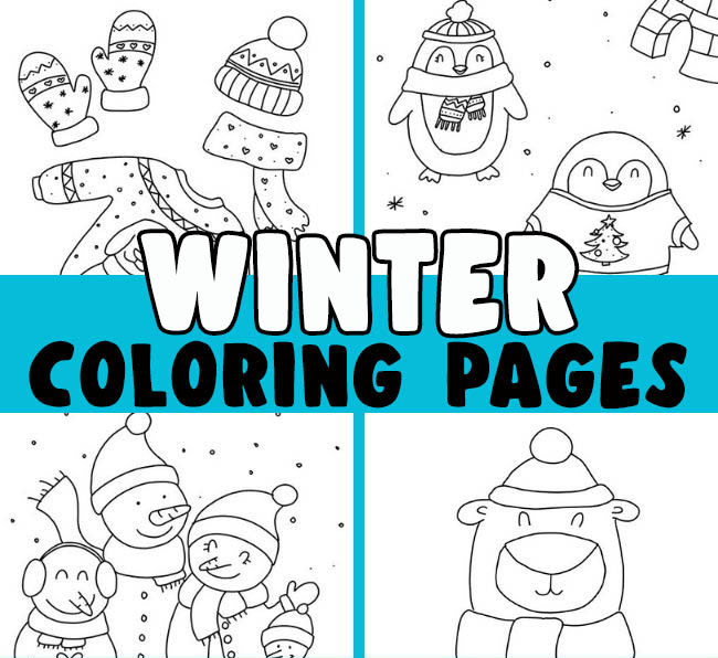 Winter Coloring Page Free Printables