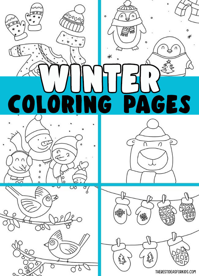 Winter Coloring Pages Free Printables The Best Ideas For Kids