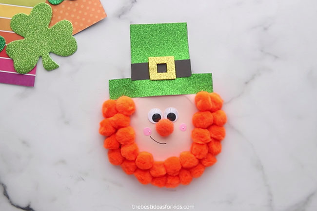 Paper Plate St Patrick's Day Leprechaun