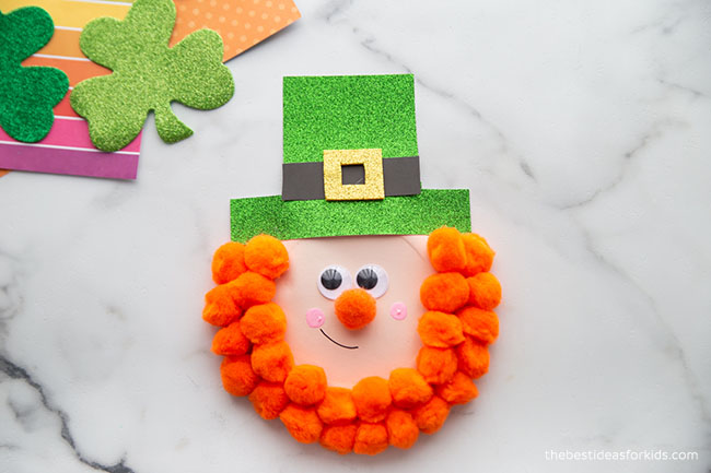 St Patrick's Day Leprechaun Paper Plate Craft