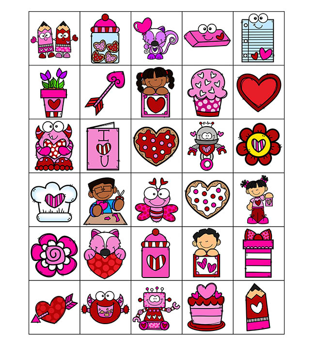 Valentine Bingo Calling Cards