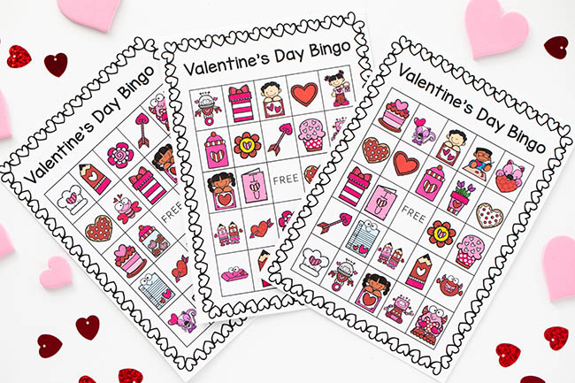 Valentine Bingo Free Printable Cards