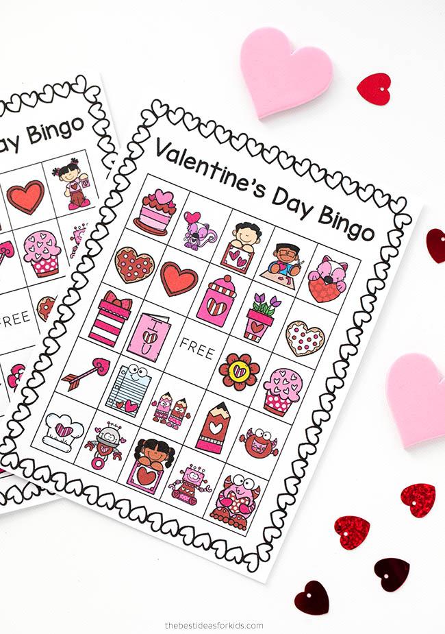Valentines Day Bingo Printable Cards