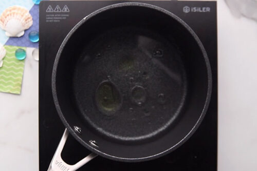 Add Water and Oil to Pot